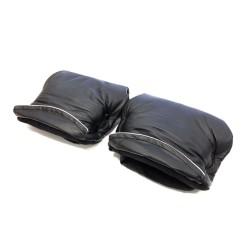 Aesthetic rukávník dělený imitace kůže Černá/Černá
