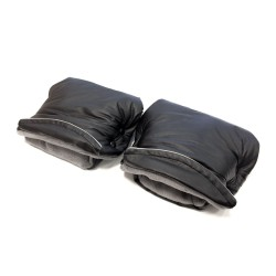 Aesthetic rukávník dělený imitace kůže Černá/Šedá střední