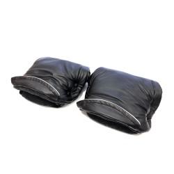 Aesthetic rukávník dělený imitace kůže Černá/Šedá titanová