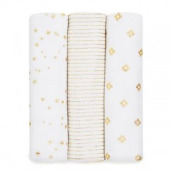 Aden + Anais Classic Swaddles 3-pack Metallic