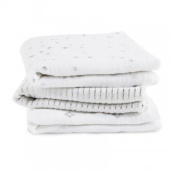 Aden + Anais Musy Muslin Squares 3-pack Metallic