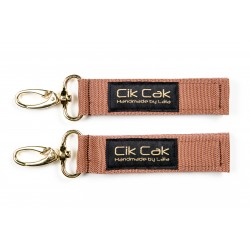Cik Cak Stroller Clips - Golden Clip Brown