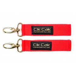 Cik Cak Stroller Clips - Golden Clip Red