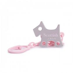 Savinex klip na šídítko Scottish Růžový pejsek