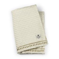 Elodie Details Organic Waffle Blanket  Vanilla White