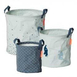 Done by Deer set měkkých odkládacích košíků Balloon 3ks Modrá