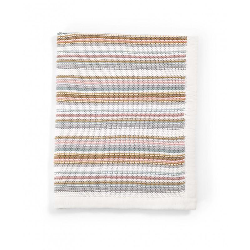 Mamas Amp Papas Knitted Blanket Pastel Stripe Mybabystore Cz