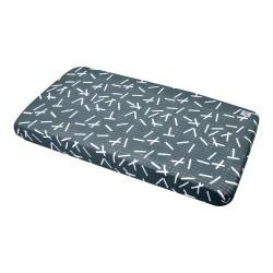 Lodger Slumber Cottonsheet 40x80cm Carbon