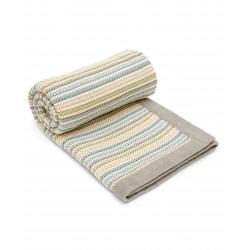 Mamas & Papas pletená deka Pastelové proužky krémové 70x90 cm
