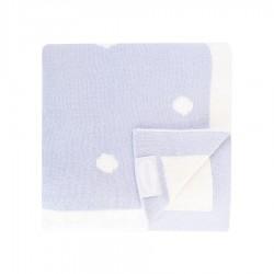 Shnuggle luxusní pletená deka 70x90 cm Modrá