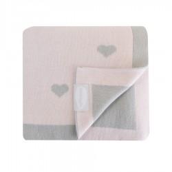 Shnuggle luxusní pletená deka 70x90 cm Růžová