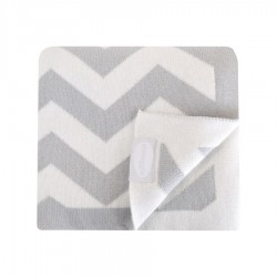 Shnuggle Luxury Knitted Blanket 70x90 cm Grey