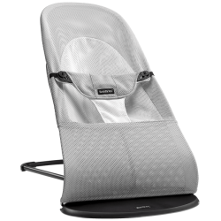BabyBjörn Bouncer Balance Soft Mesh grey White/Silver Mesh