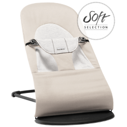 BabyBjörn lehátko Balance Soft Jersey Beige/Grey, Cotton/Jersey