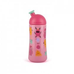 Suavinex láhev BOOO sportovní pítko 360ml Růžový