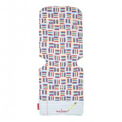 Maclaren seat liner Notebook white/Pencil plaid