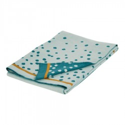 Done by Deer knitted blanket Happy Dots Blue