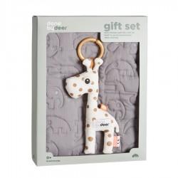 Quilt gift set 80x100cm grey