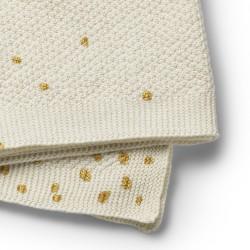 Elodie Details pletená deka 70x100cm Gold Shimmer