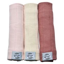 Lodger Swaddler Solid plena 70x70cm balení 3ks Soft Skin/Ivory/Plush