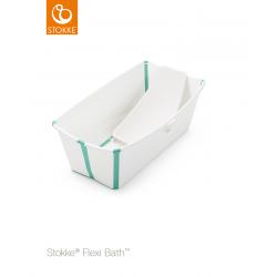 Stokke Flexi Bath sada vanička + lehátko White Aqua