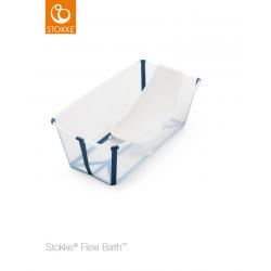 Stokke Flexi Bath sada vanička + lehátko Transparent Blue