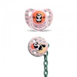 Suavinex dudlík anatomický latex 0-6m Růžová panda