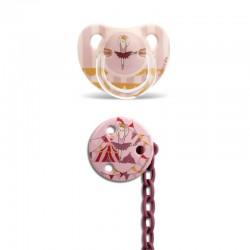 Suavinex dudlík anatomický latex 0-6m Růžový cirkus