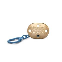 Haute Couture Suavinex klip na dudlík gold Tmavě modrá
