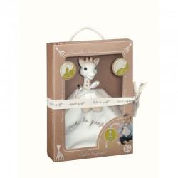 Vulli Sophie la Girafe comforter and teething ring set