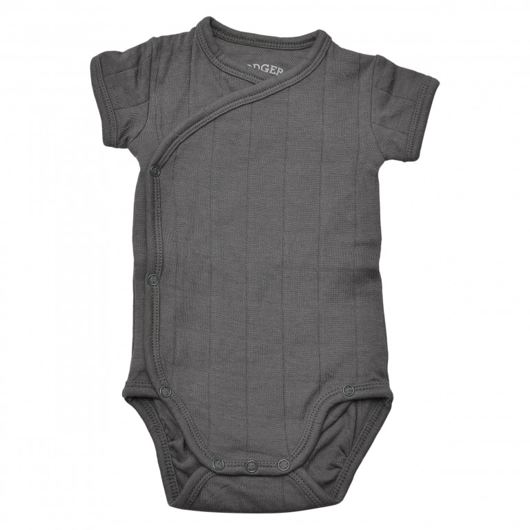 Lodger Body Romper Fold Over Solid Carbon