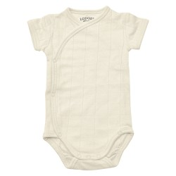 Lodger Body Romper Fold Over Solid Ivory vel. 74