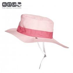 Kietla klobouček oboustranný s UV ochranou 12-18 měsíců Panama Pink