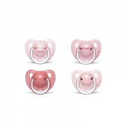 Suavinex the evolution soother silicon +6m pink