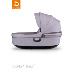 Stokke hluboké lůžko Trailz Black Brushed Lilac