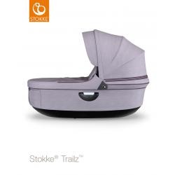 Stokke hluboké lůžko Trailz Black Brushed Lilac