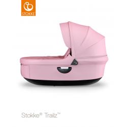 Stokke hluboké lůžko Trailz Black Lotus Pink