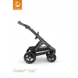Stokke Trailz chassis with Terrain Wheels Black Black/Brown Handle