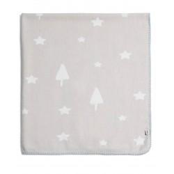 Mamas & Papas tkaná deka Hvězdy šedá