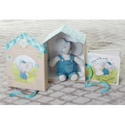Meiya & Alvin dárkový set deluxe knížka a slon Alvin