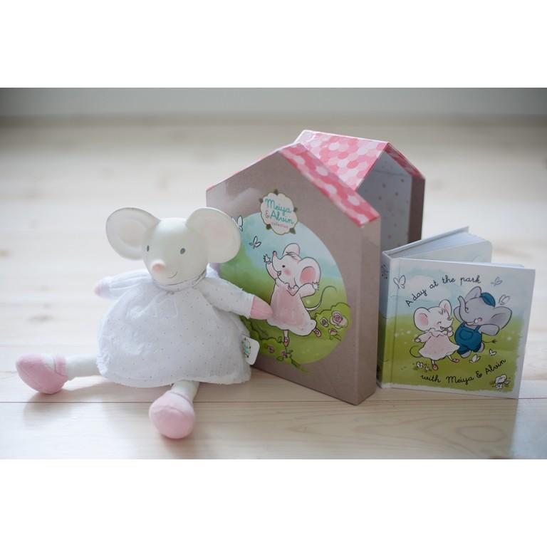 Meiya & Alvin dárkový set deluxe knížka a myška Meiya