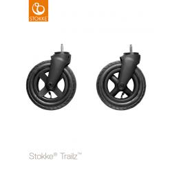 Stokke Trailz Black front wheel complet set