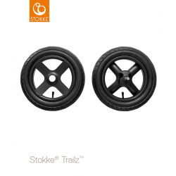 Stokke Trailz Black rear wheels complete set
