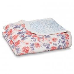 Aden + Anais Silky Soft Dream Blanket Watercolour Garden