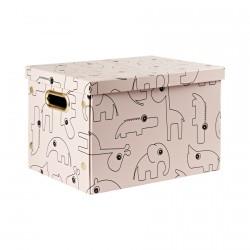 Done by Deer úložný box Contour Růžová