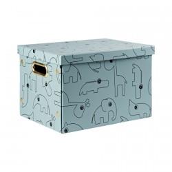 Done by Deer úložný box Contour Modrá