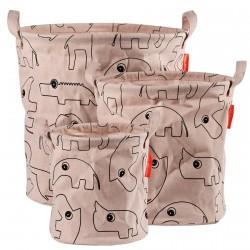 Done by Deer soft storage basket 3 pcs Contour