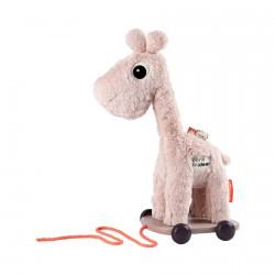 Done by Deer hračka na kolečkách Raffi Růžová