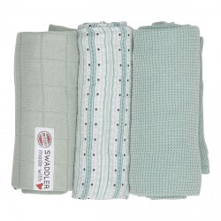 Lodger Swaddler Empire Sripe 70x70cm Dusty Turquoise