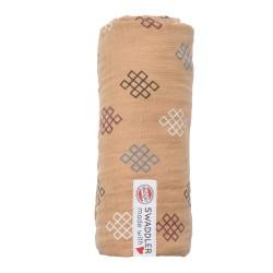 Lodger Swaddler Muskin Knot Xandu 120x120cm Honey
